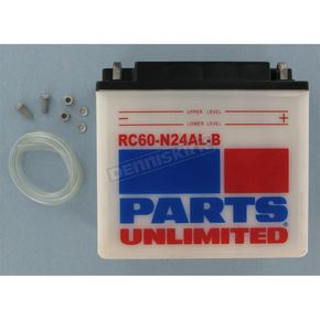 Parts Unlimited Heavy Duty 12-Volt Battery - RC60N24ALB
