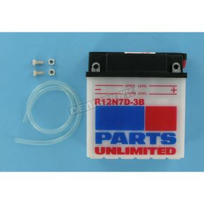 Parts Unlimited Standard 12-Volt Battery - R12N7D3B