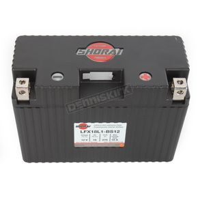 Shorai Xtreme-Rate 12-Volt LifeP04 LFX Lithium Battery - LFX18L1-BS12