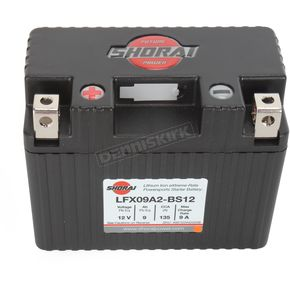 Shorai Xtreme-Rate 12-Volt LifeP04 LFX Lithium Battery - LFX09A2-BS12