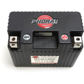 Shorai Xtreme-Rate 6-Volt LifeP04 LFX Lithium Battery - LFX18L2-BS06
