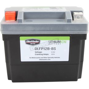 BikeMaster Lithium Ion Battery - DLFP-12B-BS