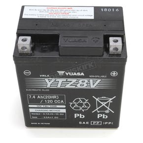 Yuasa YTZ Factory Activated AGM Maintenance Free Battery - YUAM728ZV