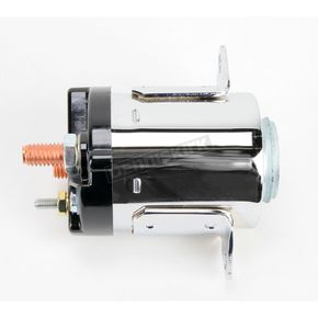 Accel Late Chrome-Plated Dual Bracket Solenoid - 40114C