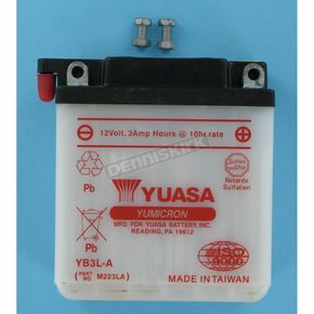 Yuasa Yumicron High Powered 12-Volt Battery - YB3L-A