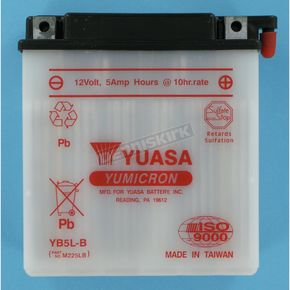 Yuasa Yumicron High Powered 12-Volt Battery - YB5L-B