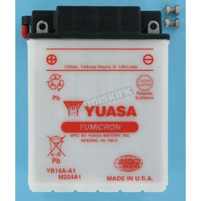 Yuasa Yumicron High Powered 12-Volt Battery - YB14A-A1