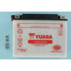Yuasa Yumicron High Powered 12-Volt Battery - Y50-N18L-A3