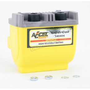 Accel Yellow HEI Super Coil Kit for H-D 65-E79 w/Points-Type Ignition - 140406