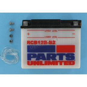 Parts Unlimited Heavy Duty 12-Volt Battery - RCB12BB2