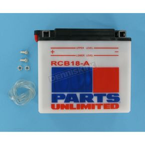 Parts Unlimited Heavy Duty 12-Volt Battery - RCB18A