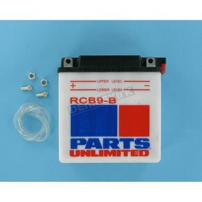 Parts Unlimited Heavy Duty 12-Volt Battery - RCB9B