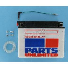 Parts Unlimited Heavy Duty 12-Volt Battery w/ Sensor - RSC50N18LAT