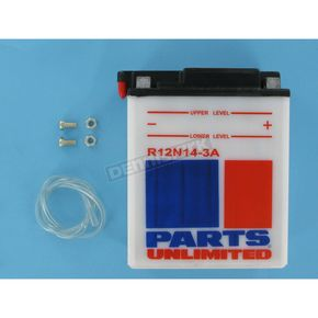 Parts Unlimited Standard 12-Volt Battery - R12N143A