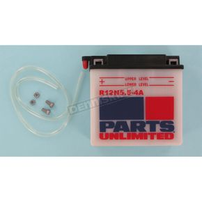 Parts Unlimited Standard 12-Volt Battery - R12N554A