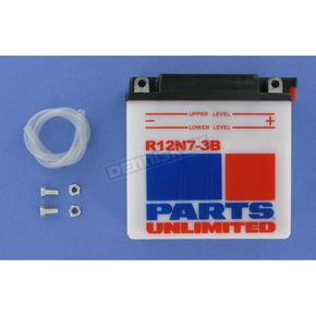 Parts Unlimited Standard 12-Volt Battery - R12N73B
