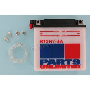 Parts Unlimited Standard 12-Volt Battery - R12N74A
