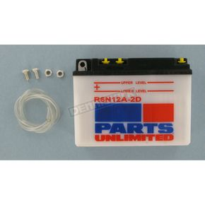 Parts Unlimited Standard 6-Volt Battery - R6N12A2D
