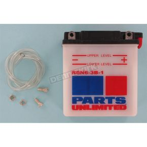 Parts Unlimited Standard 6-Volt Battery - R6N63B1