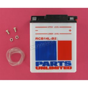 Parts Unlimited Heavy Duty 12 Volt Battery - RCB14LB2