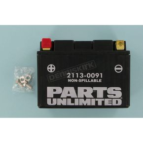 Parts Unlimited AGM Maintenance Free 12-Volt Battery - 21130091