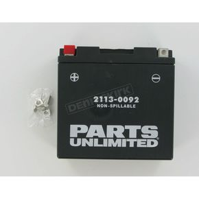 Parts Unlimited AGM Maintenance Free 12-Volt Battery - 21130092