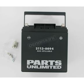 Parts Unlimited AGM Maintenance Free 12-Volt Battery - 21130094