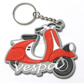 Scooter Works Red Vespa Rubber Fenderlight Key Chain - KC-FENDER-RD