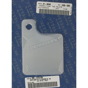 Triple Curve Ball Mill Inspection Tag Plate - NIL-INS 3