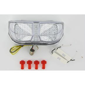 Clear Alternatives Integrated Turn Signal/LED Taillight Kit W/Clear Lens - CTL0101IT