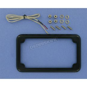 Cycle Visions Beveled License Plate Frame w/Lights - CV-4616B