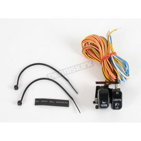 Drag Specialties Black Dimmer and Horn Switches - 2106-0086