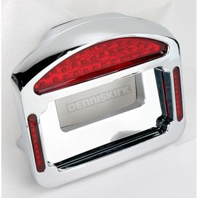 Cycle Visions Chrome Eliminator LED Taillight/License Plate Frame - CV4808