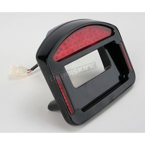 Cycle Visions Black Powder-Coated Eliminator LED Taillight/License Plate Frame - CV4808B