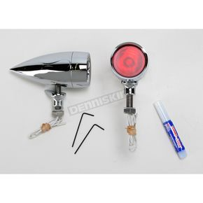 Adjure XL1 Bullet Red Halogen Marker Lights with Flame Housing - XL1F1HR