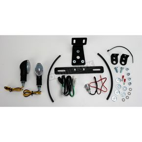 Targa Tail Kit with Black/Clear Cat-Eye Turn Signals - 22-261L