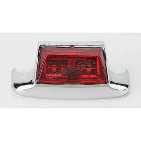Drag Specialties Rear Fender Tip Light w/Red Lens - 2040-0582