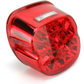 Drag Specialties Red Top Web Taillights for 99-up Models w/Traditional Style Taillights - 2010-0742