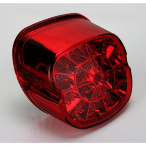 Drag Specialties Red Bottom Web Taillights for 99-up Models w/Traditional Style Taillights - 2010-0743