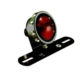 Hardbody Vintage Drilled Taillight for Custom Use w/Black Ring - 11257