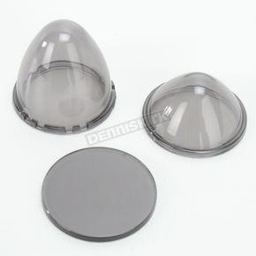 Saddlemen Replacement Smoke Lens Kit for LED Bullet Lights - 2040-0815