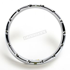 Arlen Ness Chrome 7 in. Fire-Ring LED Bezel w/Turn Signals - 08-406