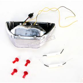 Advanced Lighting Integrated Taillight w/Clear Lens - TL-0102-IT