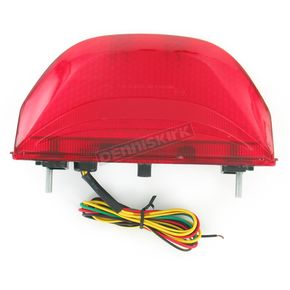 Advanced Lighting Integrated Taillight w/Red Lens - TL-0114-IT-R