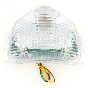 Advanced Lighting Integrated Taillight w/Clear Lens - TL-0310-IT