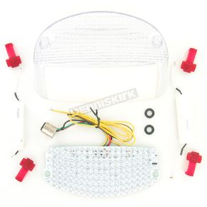 Advanced Lighting Integrated Taillight w/Clear Lens - TL-0106-IT