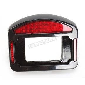 Cycle Visions Black Eliminator LED Taillight/License Plate Frames - CV4835B
