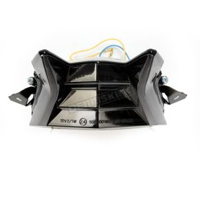 Black Integrated Taillight w/Smoke Lens - MPH-80162B