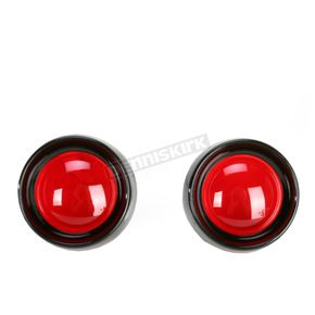 Kuryakyn Deep Dish Bezels for Deuce Style Turn Signals w/Red Lens - 5482