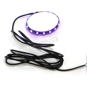 Custom Dynamics Chrome Magicflex 2 Purple LED Wheel Light - M215PURPLEC